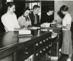 Students at circulation desk