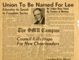 SMU Campus newspaper 1953 article about Umphrey Lee Student Center name
