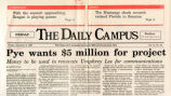 Daily Campus newspaper 1987 article about Umphrey Lee Center renovations