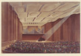Proposed drawing of Caruth Auditorium in Owen Fine Arts Center