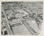 1945 aerial view of campus from the southwest