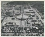 1955 aerial view of campus from the north
