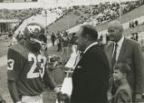 Jerry LeVias, Bob Hope, Willis Tate, and John Withers, Jr. at the homecoming game