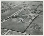 Early aerial view of campus