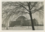 Dallas Hall in the wintertime
