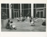 Class outside Owen Fine Arts Center