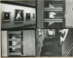 Four photographs of interior and exterior of Owen Fine Arts Center