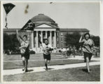 Kappa Alpha Theta sorority members flying kites