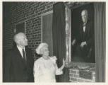 President Willis Tate and Mary Moody Northen at the unveiling of the W.L. Moody painting