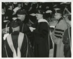 Algur H. Meadows receiving honorary doctorate