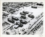 Aerial view of Perkins School of Theology quadrangle, 1954