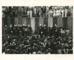 Singing the national anthem at the 1975 SMU summer convocation