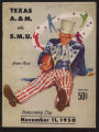 Texas A&M vs. SMU Homecoming Cotton Bowl Game Program Cover (1950)
