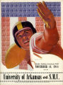 University of Arkansas vs. SMU Football Game Program Cover (1944)