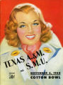 Texas A&M vs. SMU Cotton Bowl Game Program Cover (1948)