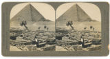Ruins of the Temple, Sphinx, and Pyramid of Khafu, Egypt.