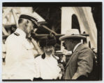 [Colonel Theodore Roosevelt with Captain William Sims and Anne Hitchcock Sims]