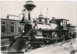 [Locomotive for train on which Jefferson Davis fled from Richmond in April 1865]