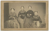 [Four women with sewing materials]