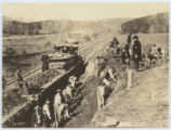 Aquia Creek and Fredericksburg Railroad, construction corps at work, VA