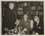 [Everette DeGolyer, Sr. talking to Dean Acheson and Charles Francis]