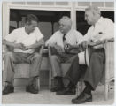 [Everette DeGolyer, Sr. sitting with Senator Antonio J. Bermudez and Congressman Charles A....