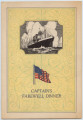 Captain's Farewell Dinner, S.S. America