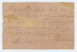 Good conduct note for John Mosby from his teacher, H. Wilson