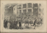 Second Mississippi Regiment (Wildcats) Passing Along Main Street, Winchester, on their way to...
