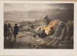 A Quiet Night in the Batteries. A Sketch in the Greenhill Battery (Major Chapman's) 29th Jany....