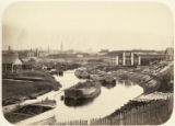 [Canal with boats near St. Petersburg]