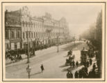 [Kiev street scene with horses and buggies]