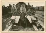 [German soldiers on an armored military train]