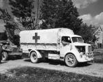 German ambulance for walking wounded (Sermide area, Italy)