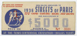 [Streets of Paris Admission Ticket, Centennial Exposition, State Fair of Texas]