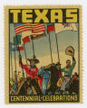 [Cowboys with Flags Stamp, Texas Centennial Celebrations]