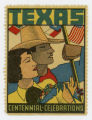 [Cowboy and Cowgirl Stamp, Texas Centennial Celebrations]