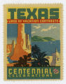 [Land of Vacation Contrasts Stamp, Texas Centennial Celebrations]
