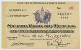 [Directors, Ex-presidents & Guests Ticket No.10, State Fair of Texas and International...