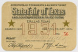 [Directors, Ex-presidents & Guests Ticket No. 56, State Fair of Texas and Southwestern Dairy...