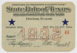 [Directors, Ex-presidents & Guests Ticket No. 46, State Fair of Texas and Southwestern Dairy...