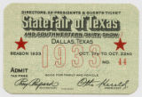 [Directors, Ex-presidents & Guests Ticket No. 44, State Fair of Texas and Southwestern Dairy...