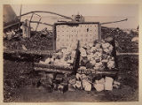 Remains of wet gun cotton gathered from ruins