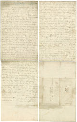 August 22, 1765 letter from M. B. [? i.e. Martha Biddulph?] to Mrs. [Judith Townsend] Wordsworth