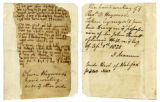 A leaf of Oliver Heywood's diary in the possession of John Fawcett