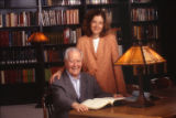 Horton and Hallie Foote in DeGolyer Library, 2003
