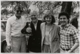 [Horton Foote (Second from Left) with Oscar for 'Tender Mercies']