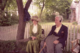 [Carol Goodheart and Horton Foote on Set of '1918']