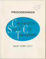 Proceedings, Conference on the Super-City of Tomorrow, New York City