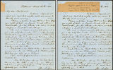 Letter to J H Vincent announcing his first appointment as a 'Supply' on circuit with John W....